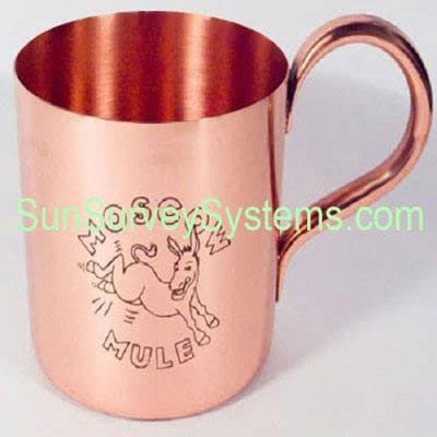Moscow Mule Mug Golden Hammered