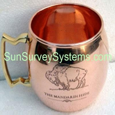 Moscow Mule Mug Silver Hammered