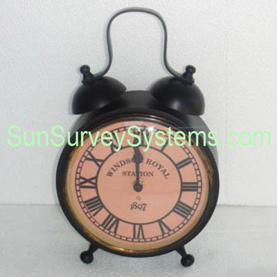 Table Clock Top Bells Antiqued