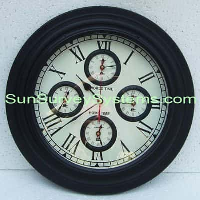 Worldtime Wall Clock Black