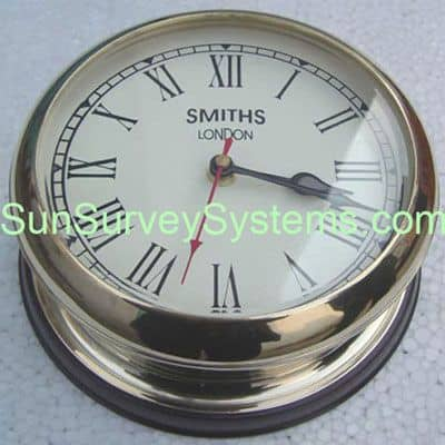 Desk Clock Brass